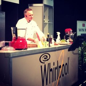 Read more about the article Simon Gault in the Whirlpool Demonstration theatre!! Awesome!