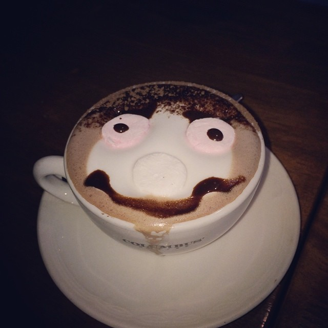 Wish I was having the kids hot choc! Happiest drink of all time! #jealous #happy #joytrigger