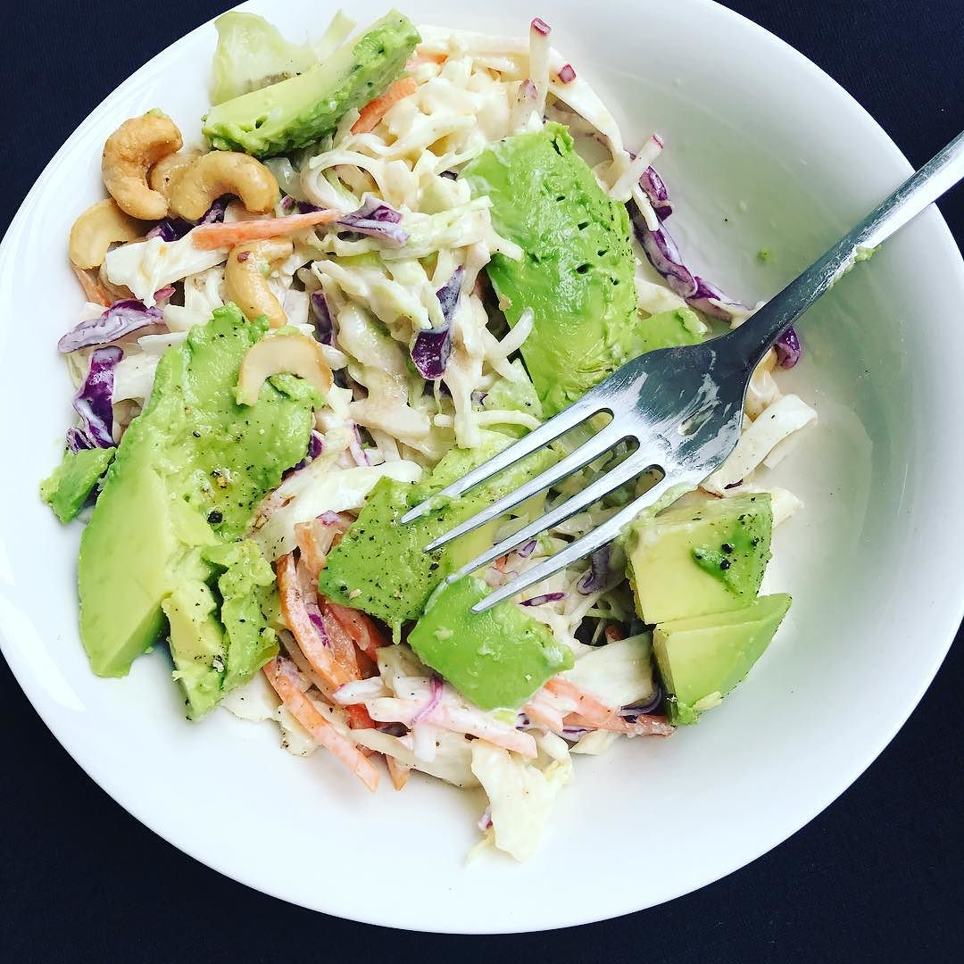 Asian Style Slaw With Cashews And Avocado