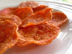 Low Carb Pepperoni Crisps