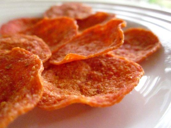 Low Carb Pepperoni Crisps