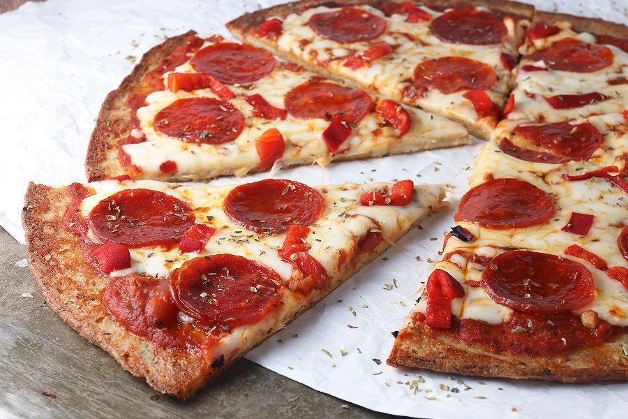 Low Carb Crispy Pizza Base