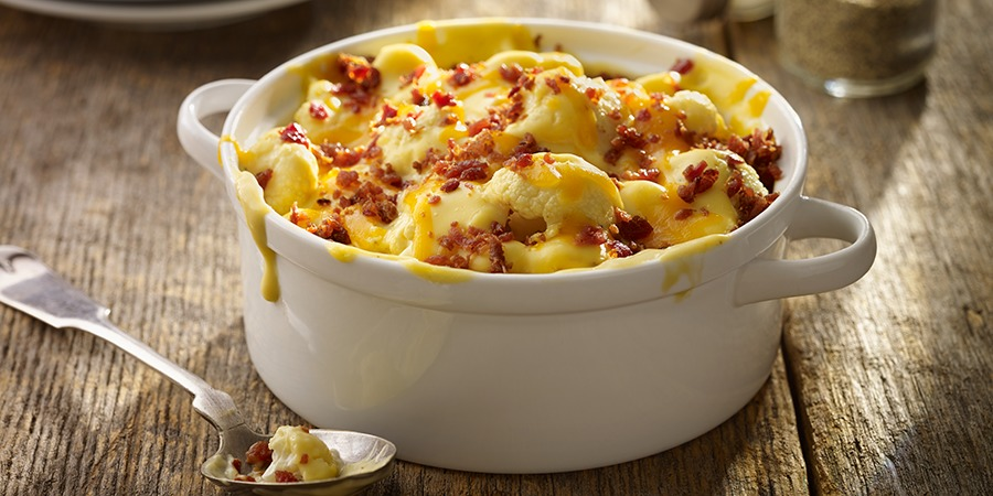 Low Carb Creamy Cauliflower and Bacon