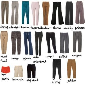 Choosing the right pants for your body shape